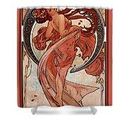 Dance Shower Curtain by Alphonse Maria Mucha