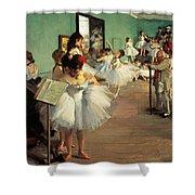 Dance Examination Shower Curtain by Edgar Degas