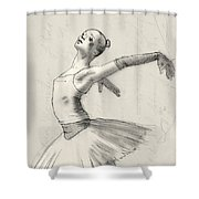 Dance Shower Curtain by H James Hoff