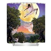 Dance Of The Moon Fairy Shower Curtain by Garry Walton