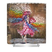 Dance Through The Color Of Life Shower Curtain by Karina Llergo
