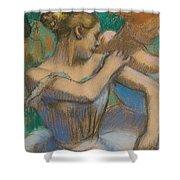 Dancer Adjusting Her Shoulder Shower Curtain by Edgar Degas