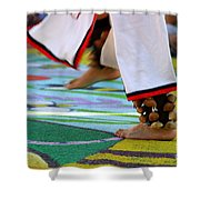 Dancing Feet Shower Curtain by Henrik Lehnerer