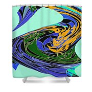 Dancing Goose Shower Curtain by Will Borden