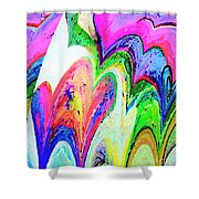 Dancing Hearts  Shower Curtain by Annie Zeno