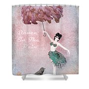 Dancing In The Rain Shower Curtain by Terry Fleckney