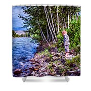 Dangerous Beauty Shower Curtain by Omaste Witkowski