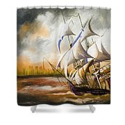 Dangerous Tides Shower Curtain by Corporate Art Task Force
