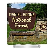 Daniel Boone Shower Curtain by Frozen in Time Fine Art Photography