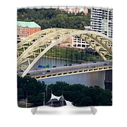 Daniel Carter Beard Bridge Cincinnati Ohio Shower Curtain by Paul Velgos