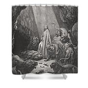 Daniel in the Den of Lions Shower Curtain by Gustave Dore