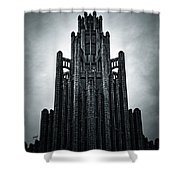 Dark Grandeur Shower Curtain by Andrew Paranavitana