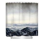 Dark Storm Cloud Mist  Shower Curtain by Barbara Chichester