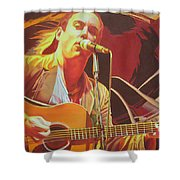 Dave Matthews At Vegoose Shower Curtain by Joshua Morton
