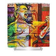 Dave Matthews-Bartender Shower Curtain by Joshua Morton