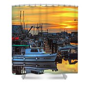 Dawn's Early Light Shower Curtain by Randy Hall