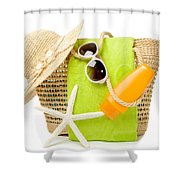 Day At The Beach Shower Curtain by Amanda And Christopher Elwell