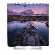 Days End Shower Curtain by Peter Coskun