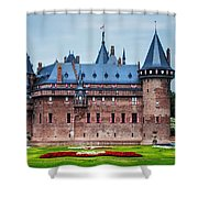 De Haar Castle. Utrecht. Netherlands Shower Curtain by Jenny Rainbow