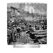 Deadwood South Dakota C. 1876 Shower Curtain by Daniel Hagerman