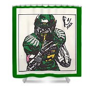 De'anthony Thomas Shower Curtain by Jeremiah Colley