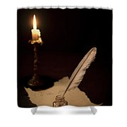 Dear Diary... Shower Curtain by Evelina Kremsdorf