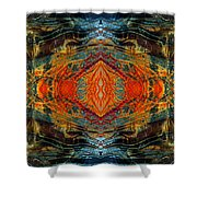 Decalcomaniac Intersection 2 Shower Curtain by Otto Rapp