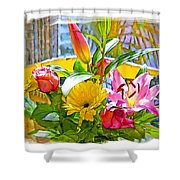 December Flowers Shower Curtain by Chuck Staley