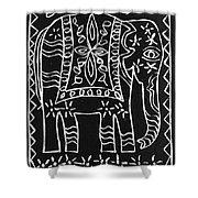 Decorated Elephant Shower Curtain by Caroline Street