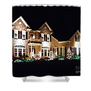 Decorated For Christmas Shower Curtain by Sarah Loft