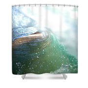 Deep Green Shower Curtain by Sean Davey
