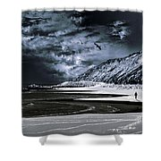Deep Into That Darkness Shower Curtain by Stelio Photography