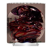 Deep Reds Prr1 Shower Curtain by David Patterson