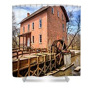 Deep River Grist Mill In Northwest Indiana Shower Curtain by Paul Velgos