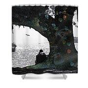 Deeply Rooted Shower Curtain by Betsy C  Knapp
