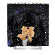 Deer Dog Shower Curtain by Al Powell Photography USA