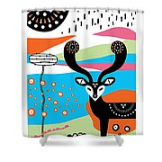Deery Me Shower Curtain by Susan Claire