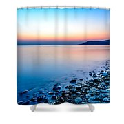 Deganwy North Wales Shower Curtain by Adrian Evans