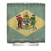 Delaware State Flag Shower Curtain by Pixel Chimp