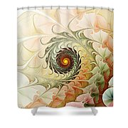 Delicate Wave Shower Curtain by Anastasiya Malakhova