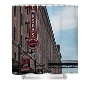 Dempseys Brew Pub Shower Curtain by Susan Candelario
