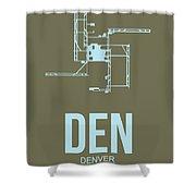 Den Denver Airport Poster 3 Shower Curtain by Naxart Studio
