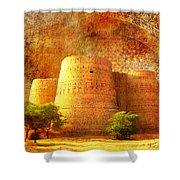 Derawar Fort Shower Curtain by Catf