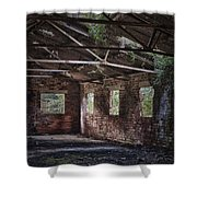 Derelict Building Shower Curtain by Amanda Elwell