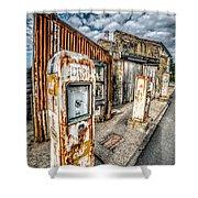 Derelict Gas Station Shower Curtain by Adrian Evans