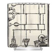 Descarges Electriques Dan Lai Rarefie Shower Curtain by French School
