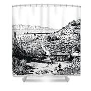 Desert Home Shower Curtain by Joseph Juvenal