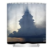 Desert Rainstorm Shower Curtain by Kerri Mortenson