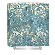 Design In Turquoise Shower Curtain by William Morris