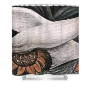 Detroit Industry   detail of west wall Shower Curtain by Diego Rivera